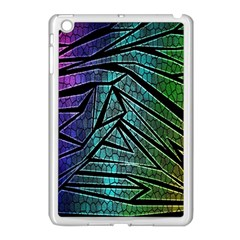 Abstract Background Rainbow Metal Apple iPad Mini Case (White)