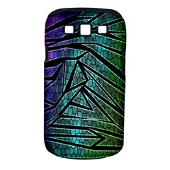 Abstract Background Rainbow Metal Samsung Galaxy S III Classic Hardshell Case (PC+Silicone)