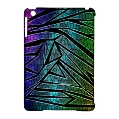Abstract Background Rainbow Metal Apple iPad Mini Hardshell Case (Compatible with Smart Cover)