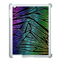 Abstract Background Rainbow Metal Apple iPad 3/4 Case (White)