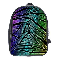 Abstract Background Rainbow Metal School Bags (XL)