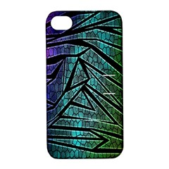 Abstract Background Rainbow Metal Apple iPhone 4/4S Hardshell Case with Stand