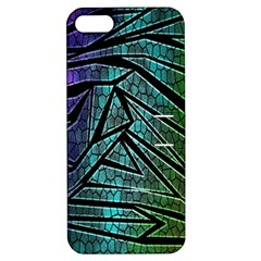 Abstract Background Rainbow Metal Apple iPhone 5 Hardshell Case with Stand
