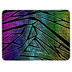 Abstract Background Rainbow Metal Samsung Galaxy Tab 7  P1000 Flip Case