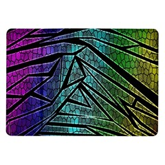 Abstract Background Rainbow Metal Samsung Galaxy Tab 10.1  P7500 Flip Case
