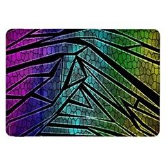 Abstract Background Rainbow Metal Samsung Galaxy Tab 8.9  P7300 Flip Case