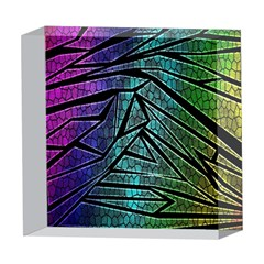 Abstract Background Rainbow Metal 5  x 5  Acrylic Photo Blocks