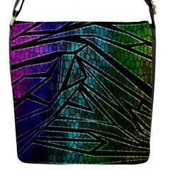 Abstract Background Rainbow Metal Flap Messenger Bag (S)
