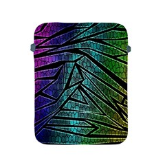 Abstract Background Rainbow Metal Apple iPad 2/3/4 Protective Soft Cases