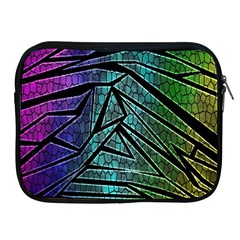 Abstract Background Rainbow Metal Apple iPad 2/3/4 Zipper Cases