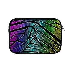 Abstract Background Rainbow Metal Apple iPad Mini Zipper Cases