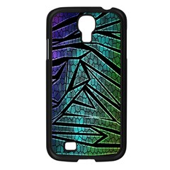 Abstract Background Rainbow Metal Samsung Galaxy S4 I9500/ I9505 Case (Black)