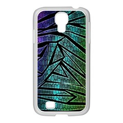 Abstract Background Rainbow Metal Samsung GALAXY S4 I9500/ I9505 Case (White)