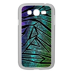 Abstract Background Rainbow Metal Samsung Galaxy Grand DUOS I9082 Case (White)