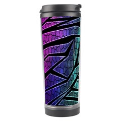 Abstract Background Rainbow Metal Travel Tumbler