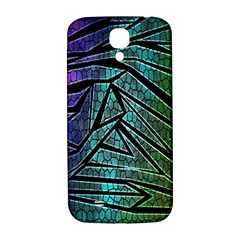 Abstract Background Rainbow Metal Samsung Galaxy S4 I9500/I9505  Hardshell Back Case