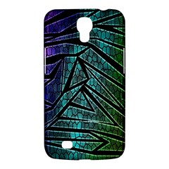 Abstract Background Rainbow Metal Samsung Galaxy Mega 6.3  I9200 Hardshell Case