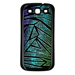 Abstract Background Rainbow Metal Samsung Galaxy S3 Back Case (Black)