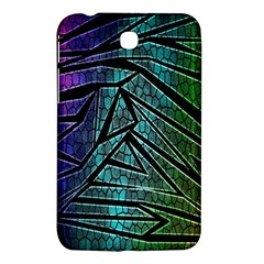 Abstract Background Rainbow Metal Samsung Galaxy Tab 3 (7 ) P3200 Hardshell Case
