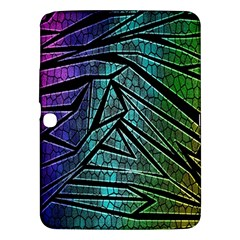 Abstract Background Rainbow Metal Samsung Galaxy Tab 3 (10.1 ) P5200 Hardshell Case