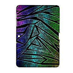 Abstract Background Rainbow Metal Samsung Galaxy Tab 2 (10.1 ) P5100 Hardshell Case