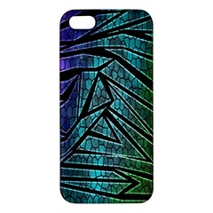 Abstract Background Rainbow Metal iPhone 5S/ SE Premium Hardshell Case