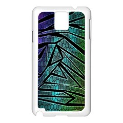 Abstract Background Rainbow Metal Samsung Galaxy Note 3 N9005 Case (White)