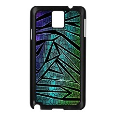 Abstract Background Rainbow Metal Samsung Galaxy Note 3 N9005 Case (Black)