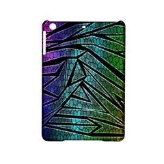 Abstract Background Rainbow Metal iPad Mini 2 Hardshell Cases