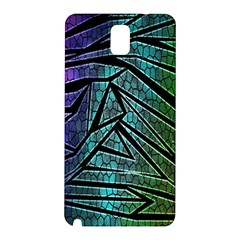Abstract Background Rainbow Metal Samsung Galaxy Note 3 N9005 Hardshell Back Case