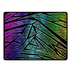 Abstract Background Rainbow Metal Double Sided Fleece Blanket (Small)