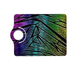 Abstract Background Rainbow Metal Kindle Fire HD (2013) Flip 360 Case
