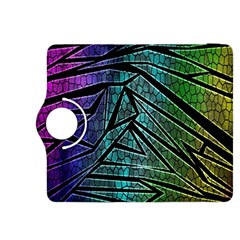 Abstract Background Rainbow Metal Kindle Fire HDX 8.9  Flip 360 Case