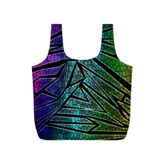 Abstract Background Rainbow Metal Full Print Recycle Bags (S)
