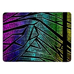 Abstract Background Rainbow Metal Samsung Galaxy Tab Pro 12.2  Flip Case