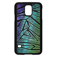 Abstract Background Rainbow Metal Samsung Galaxy S5 Case (Black)