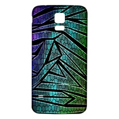 Abstract Background Rainbow Metal Samsung Galaxy S5 Back Case (White)