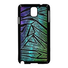 Abstract Background Rainbow Metal Samsung Galaxy Note 3 Neo Hardshell Case (Black)