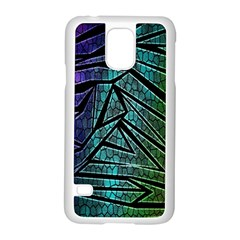 Abstract Background Rainbow Metal Samsung Galaxy S5 Case (White)