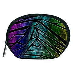 Abstract Background Rainbow Metal Accessory Pouches (Medium)
