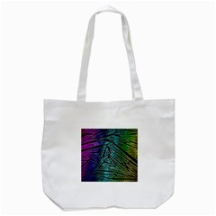 Abstract Background Rainbow Metal Tote Bag (White)