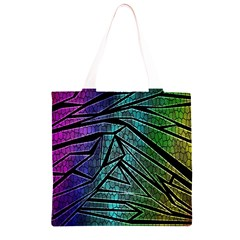 Abstract Background Rainbow Metal Grocery Light Tote Bag
