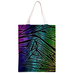 Abstract Background Rainbow Metal Classic Light Tote Bag