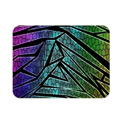 Abstract Background Rainbow Metal Double Sided Flano Blanket (Mini)