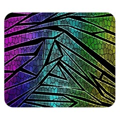 Abstract Background Rainbow Metal Double Sided Flano Blanket (Small)