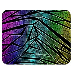 Abstract Background Rainbow Metal Double Sided Flano Blanket (Medium)