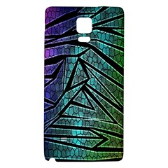 Abstract Background Rainbow Metal Galaxy Note 4 Back Case