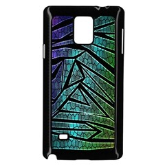 Abstract Background Rainbow Metal Samsung Galaxy Note 4 Case (Black)