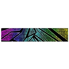 Abstract Background Rainbow Metal Flano Scarf (Small)