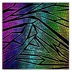 Abstract Background Rainbow Metal Large Satin Scarf (Square)